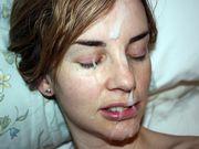 Novia recibe una gran carga de esperma en su cara