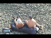 Atrapado haciendo sexo en la playa